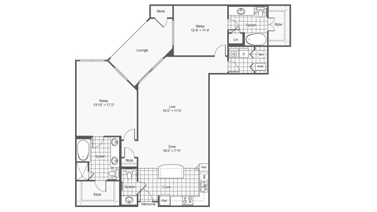 2 Bedrooms 3 Bathrooms Apartment for rent at Prelude @ Clairmont in Brookhaven, GA