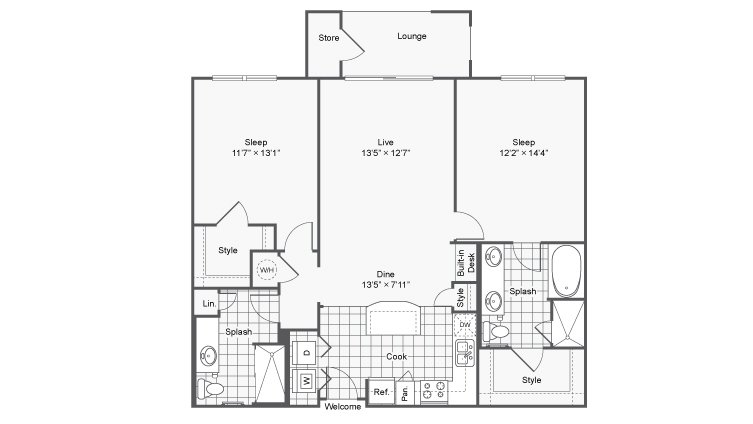 2 Bedrooms 2 Bathrooms Apartment for rent at Prelude @ Clairmont in Brookhaven, GA