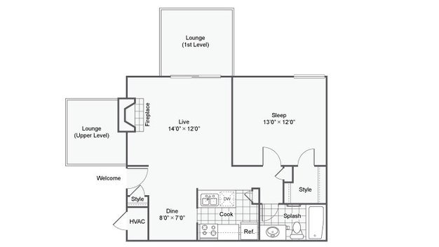 1 Bedroom 1 Bathroom Apartment for rent at Haven On The Lake Apartment Homes in Maryland Hts, MO