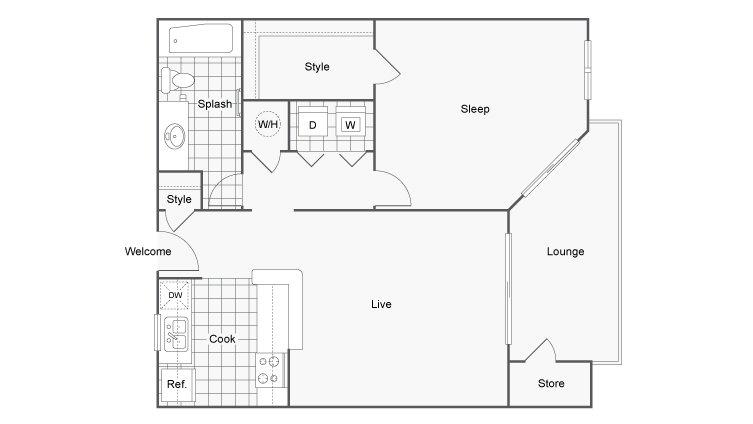 1 Bedroom 1 Bathroom Apartment for rent at 45 Eighty Dunwoody Apartment Homes in Dunwoody, GA