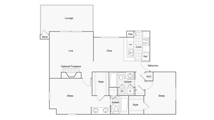 2 Bedrooms 2 Bathrooms Apartment for rent at 45 Eighty Dunwoody Apartment Homes in Dunwoody, GA