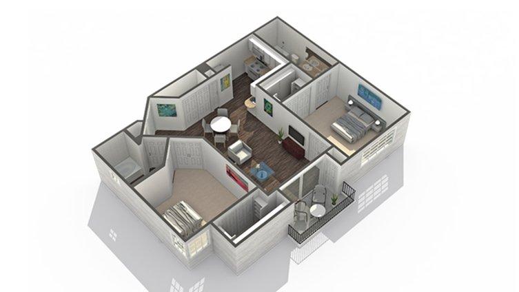 2 Bedrooms 2 Bathrooms Apartment for rent at Arrive North Scottsdale in Phoenix, AZ