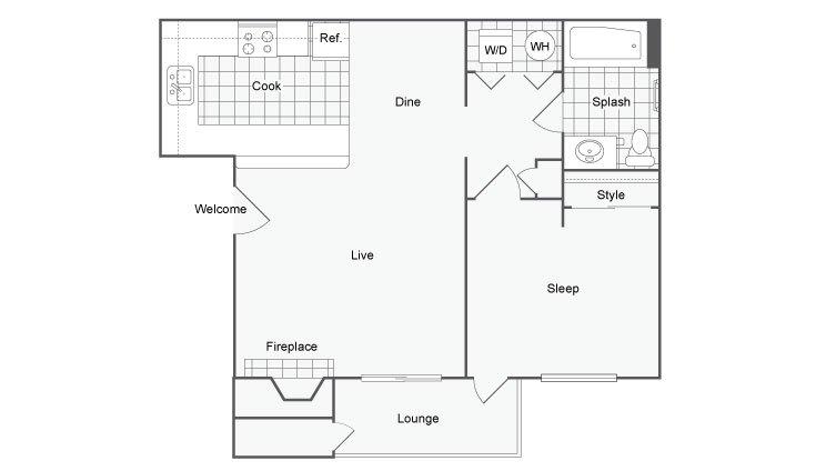 1 Bedroom 1 Bathroom Apartment for rent at Renew Diamond Valley in Hemet, CA