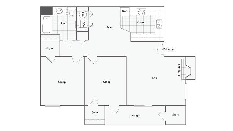 2 Bedrooms 1 Bathroom Apartment for rent at Renew Diamond Valley in Hemet, CA