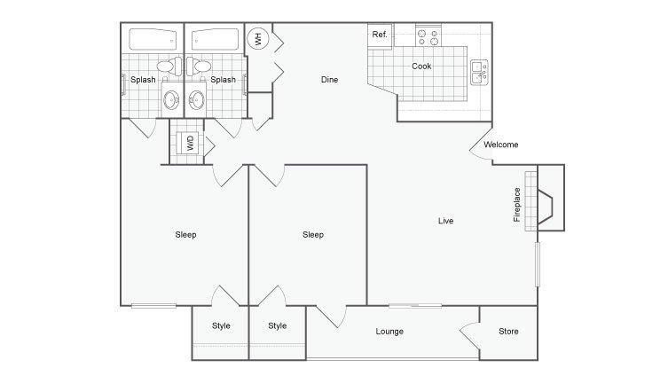 2 Bedrooms 2 Bathrooms Apartment for rent at Renew Diamond Valley in Hemet, CA