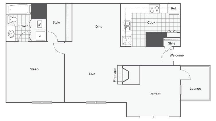 1 Bedroom 1 Bathroom Apartment for rent at Renew Sandy Springs in Sandy Springs, GA