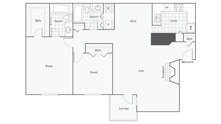 2 Bedrooms 2 Bathrooms Apartment for rent at Renew Sandy Springs in Sandy Springs, GA