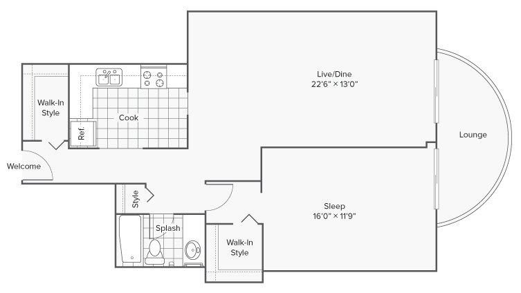 1 Bedroom 1 Bathroom Apartment for rent at Renew Wheaton Center in Wheaton, IL