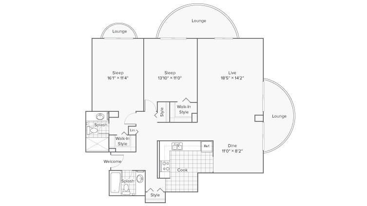 2 Bedrooms 2 Bathrooms Apartment for rent at Renew Wheaton Center in Wheaton, IL