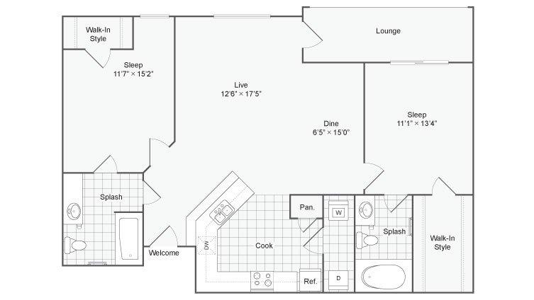 2 Bedrooms 2 Bathrooms Apartment for rent at Renew At Tpc in San Antonio, TX