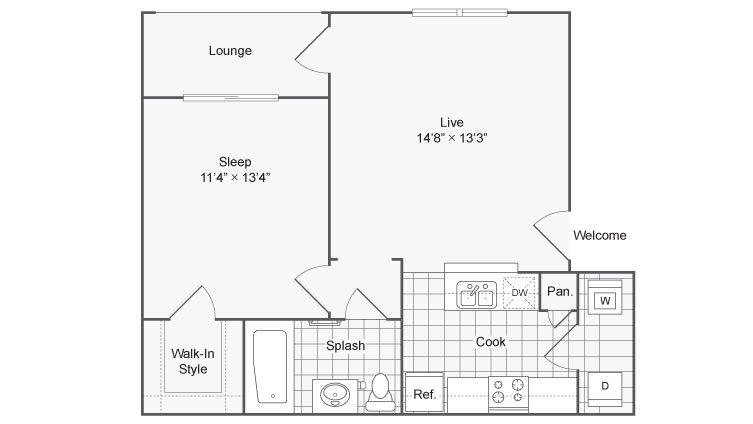 1 Bedroom 1 Bathroom Apartment for rent at Renew At Tpc in San Antonio, TX