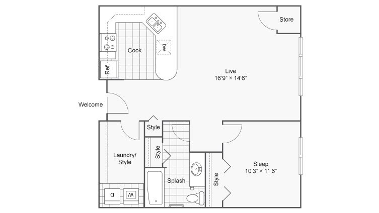 1 Bedroom 1 Bathroom Apartment for rent at Zen Chaska in Chaska, MN