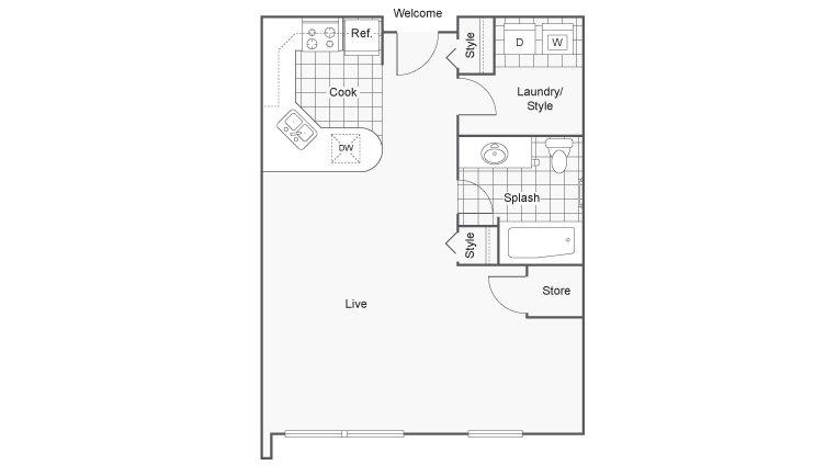 Studio 1 Bathroom Apartment for rent at Zen Chaska in Chaska, MN