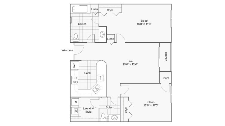 2 Bedrooms 1 Bathroom Apartment for rent at Zen Chaska in Chaska, MN