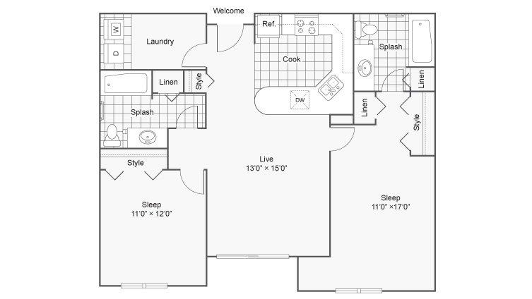 2 Bedrooms 2 Bathrooms Apartment for rent at Zen Chaska in Chaska, MN