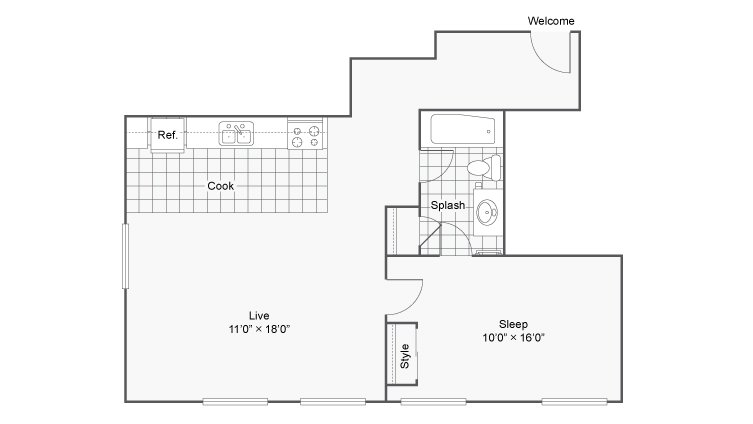 1 Bedroom 1 Bathroom Apartment for rent at Renew On Stout in Denver, CO