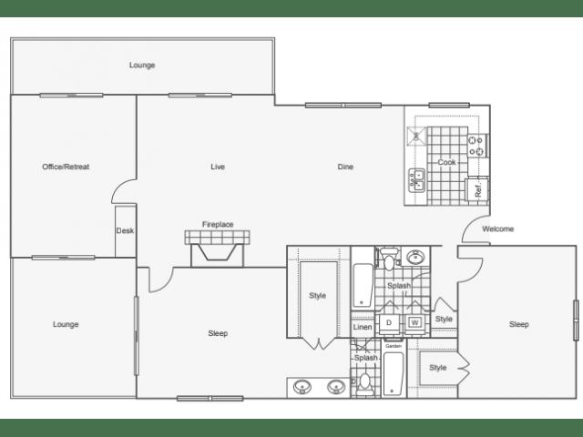 3 Bedrooms 2 Bathrooms Apartment for rent at 45 Eighty Dunwoody Apartment Homes in Dunwoody, GA