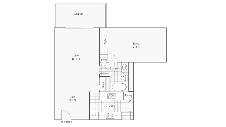 1 Bedroom 1 Bathroom Apartment for rent at Renew Riverview in Memphis, TN