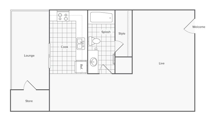 Studio 1 Bathroom Apartment for rent at Serene At Riverwood in Athens, GA