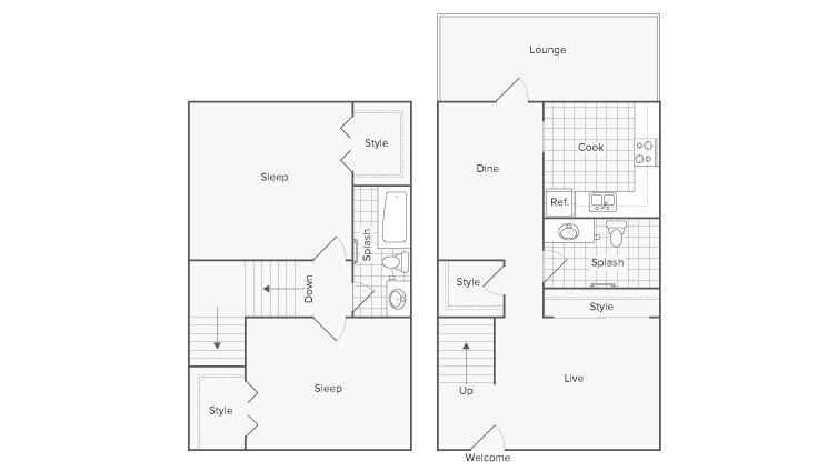 2 Bedrooms 1 Bathroom Apartment for rent at Serene At Riverwood in Athens, GA