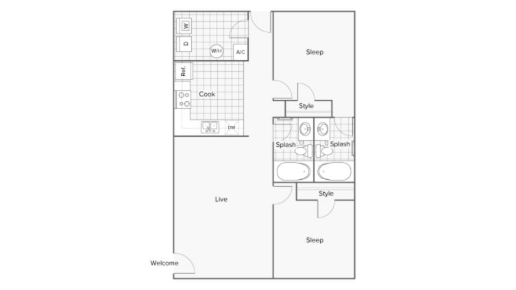 2 Bedrooms 2 Bathrooms Apartment for rent at Serene At Creekstone in Athens, GA