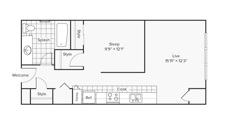 Studio 1 Bathroom Apartment for rent at Arrive University City in Philadelphia, PA
