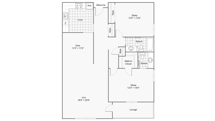 2 Bedrooms 1 Bathroom Apartment for rent at Renew 78 West in Madison, WI