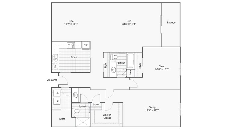 2 Bedrooms 2 Bathrooms Apartment for rent at Renew 78 West in Madison, WI