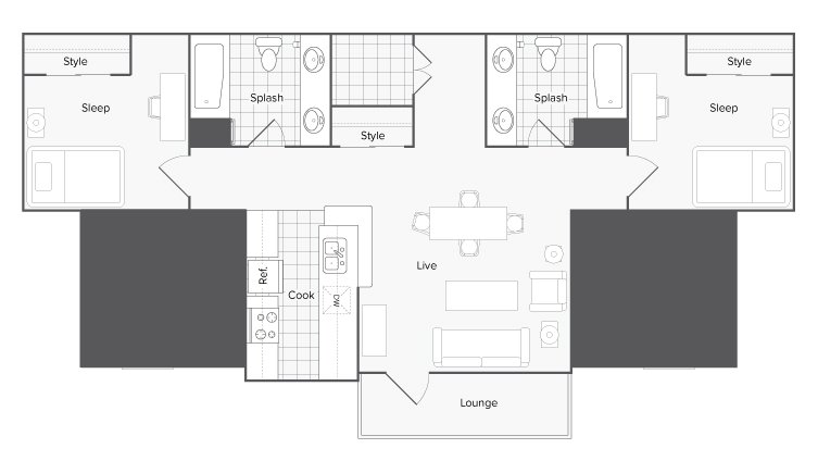 4 Bedrooms 2 Bathrooms Apartment for rent at The Social 1600 in Tallahassee, FL