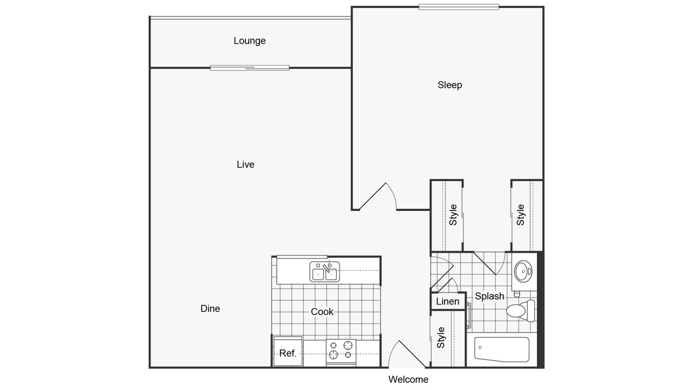 1 Bedroom 1 Bathroom Apartment for rent at Renew On York in Bensenville, IL