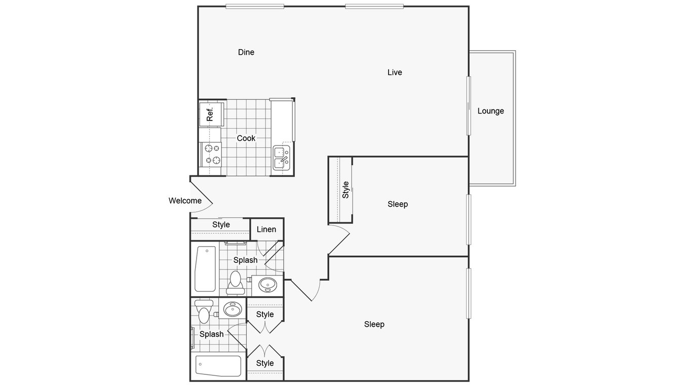 2 Bedrooms 2 Bathrooms Apartment for rent at Renew On York in Bensenville, IL