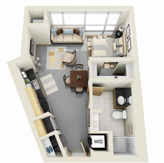 Studio 1 Bathroom Apartment for rent at Solhaus Apartments in Minneapolis, MN