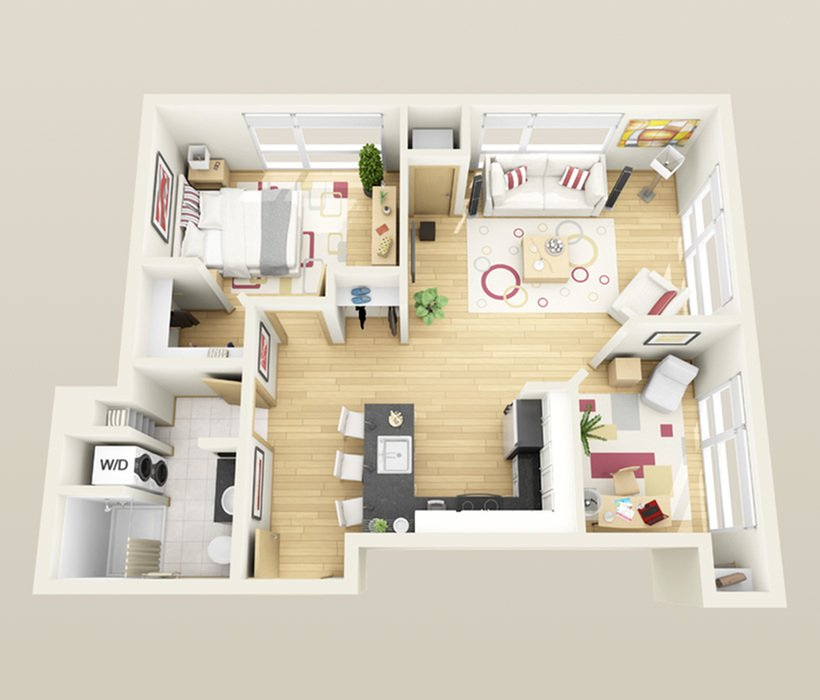 1 Bedroom 1 Bathroom Apartment for rent at Solhaus Apartments in Minneapolis, MN