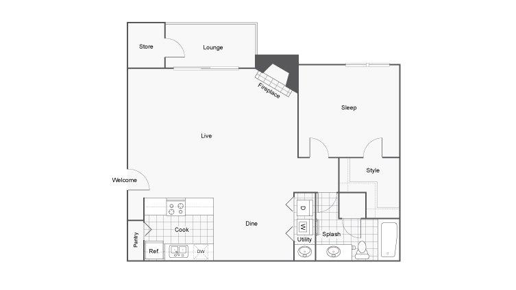 1 Bedroom 1 Bathroom Apartment for rent at Renew Cross Creek in St Louis, MO