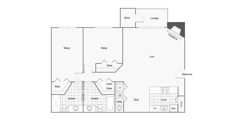 2 Bedrooms 2 Bathrooms Apartment for rent at Renew Cross Creek in St Louis, MO