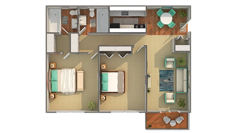 2 Bedrooms 2 Bathrooms Apartment for rent at Renew Madison in Madison, WI