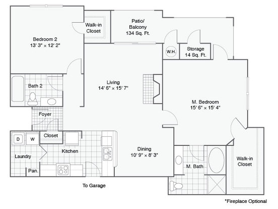 2 Bedrooms 2 Bathrooms Apartment for rent at Talavera in Austin, TX