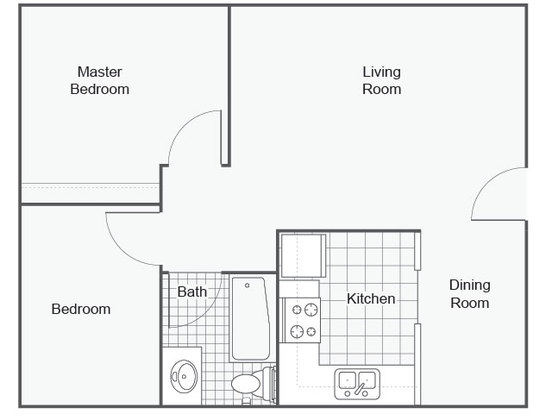 2 Bedrooms 1 Bathroom Apartment for rent at The Astoria in Portland, OR