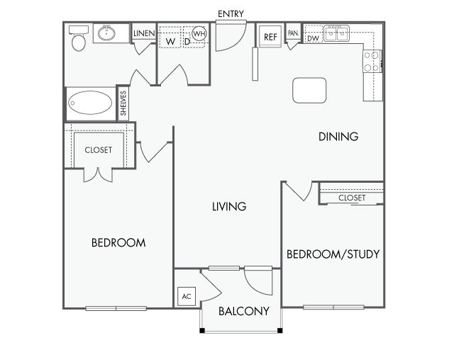 2 Bedrooms 1 Bathroom Apartment for rent at Artisan Apartments in Austin, TX