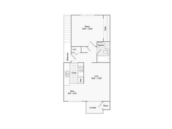 1 Bedroom 1 Bathroom Apartment for rent at The Habitat Apartment Homes in Portland, OR