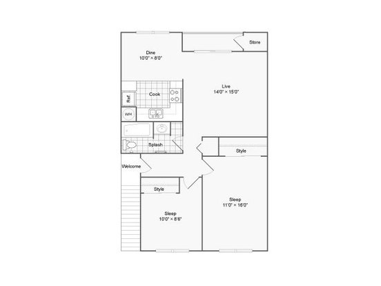 2 Bedrooms 1 Bathroom Apartment for rent at The Habitat Apartment Homes in Portland, OR