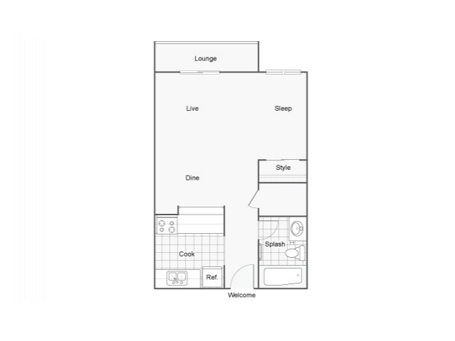 Studio 1 Bathroom Apartment for rent at The Blvd in Kent, WA