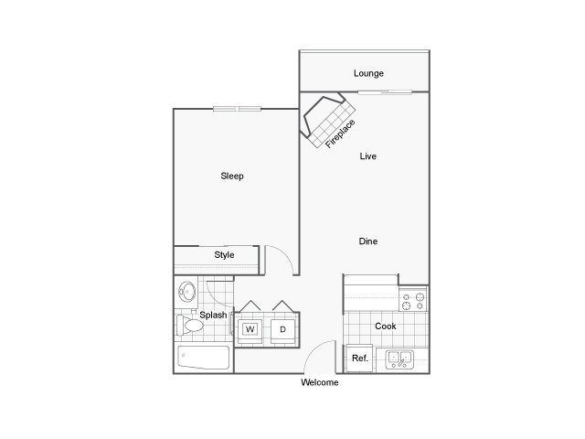1 Bedroom 1 Bathroom Apartment for rent at The Blvd in Kent, WA