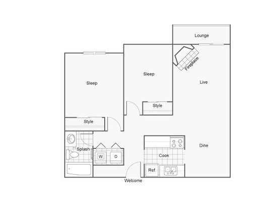 2 Bedrooms 1 Bathroom Apartment for rent at The Blvd in Kent, WA