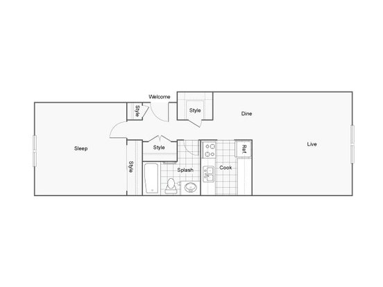 Studio 1 Bathroom Apartment for rent at The Raleigh in Burien, WA