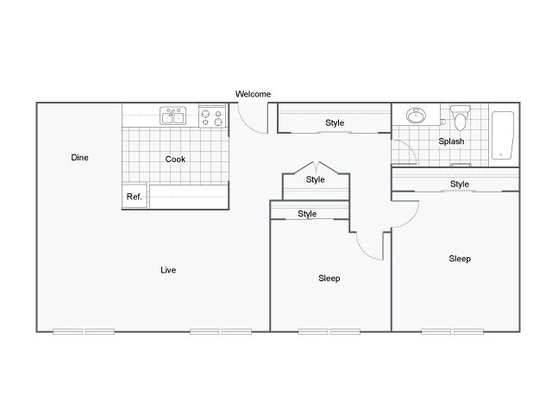 2 Bedrooms 1 Bathroom Apartment for rent at The Raleigh in Burien, WA