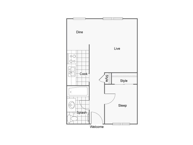 1 Bedroom 1 Bathroom Apartment for rent at The Montrose in Burien, WA