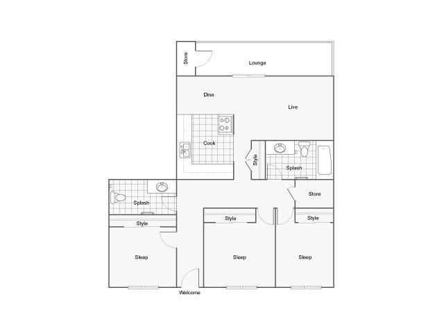 3 Bedrooms 1 Bathroom Apartment for rent at The Montrose in Burien, WA