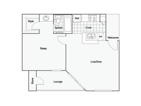 1 Bedroom 1 Bathroom Apartment for rent at The Hanover in Seatac, WA