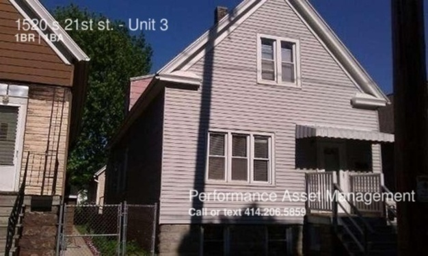 1 Bedroom 1 Bathroom House for rent at 1520 S 21st St. in Milwaukee, WI